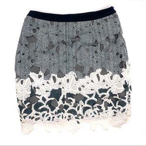 Maeve Cutout Appliqué Skirt